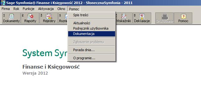 Dokumentacja w programie Symfonia Finanse i Księgowość