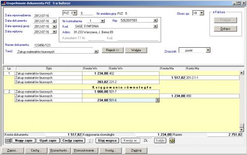 004 – Zmiana po włączeniu pełnych opisów pozycji na dokumencie