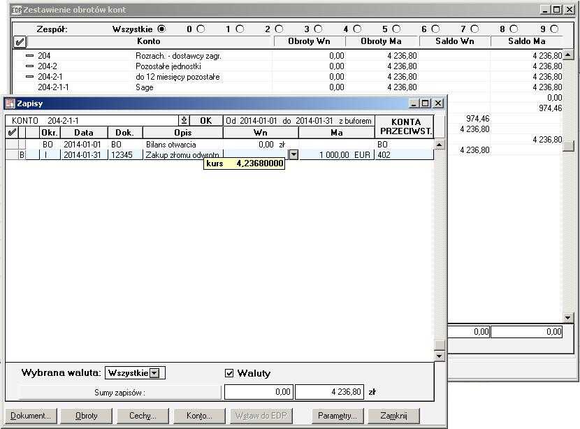 008 – Poprawione kwoty w rejestrze VAT