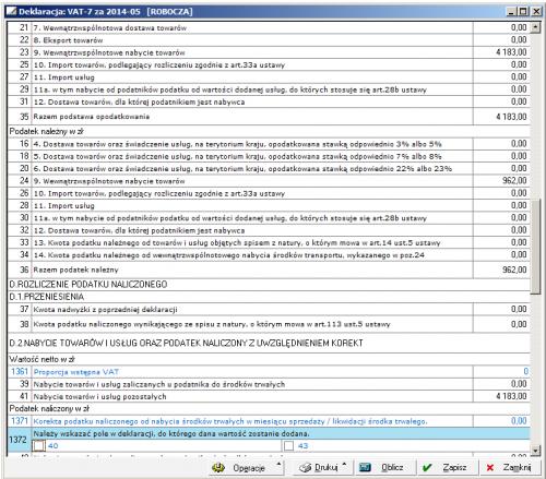 008 – Poprawna deklaracja VAT-7 wg starej konfiguracji